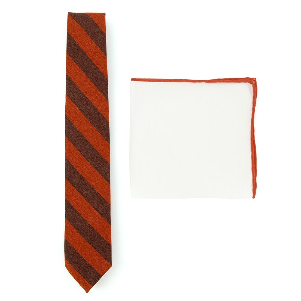 Stripe Tie Combo To Match Grey Suits