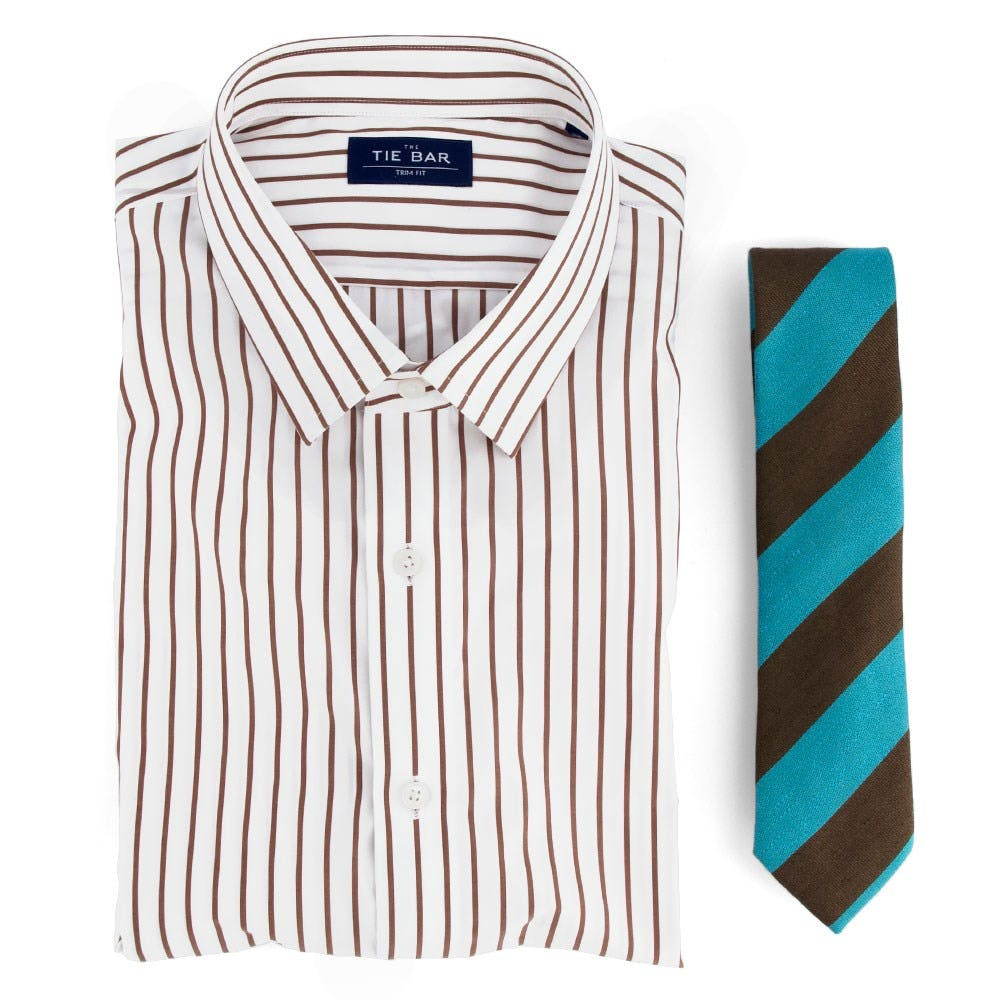 Striped Shirt & Striped Tie Combo