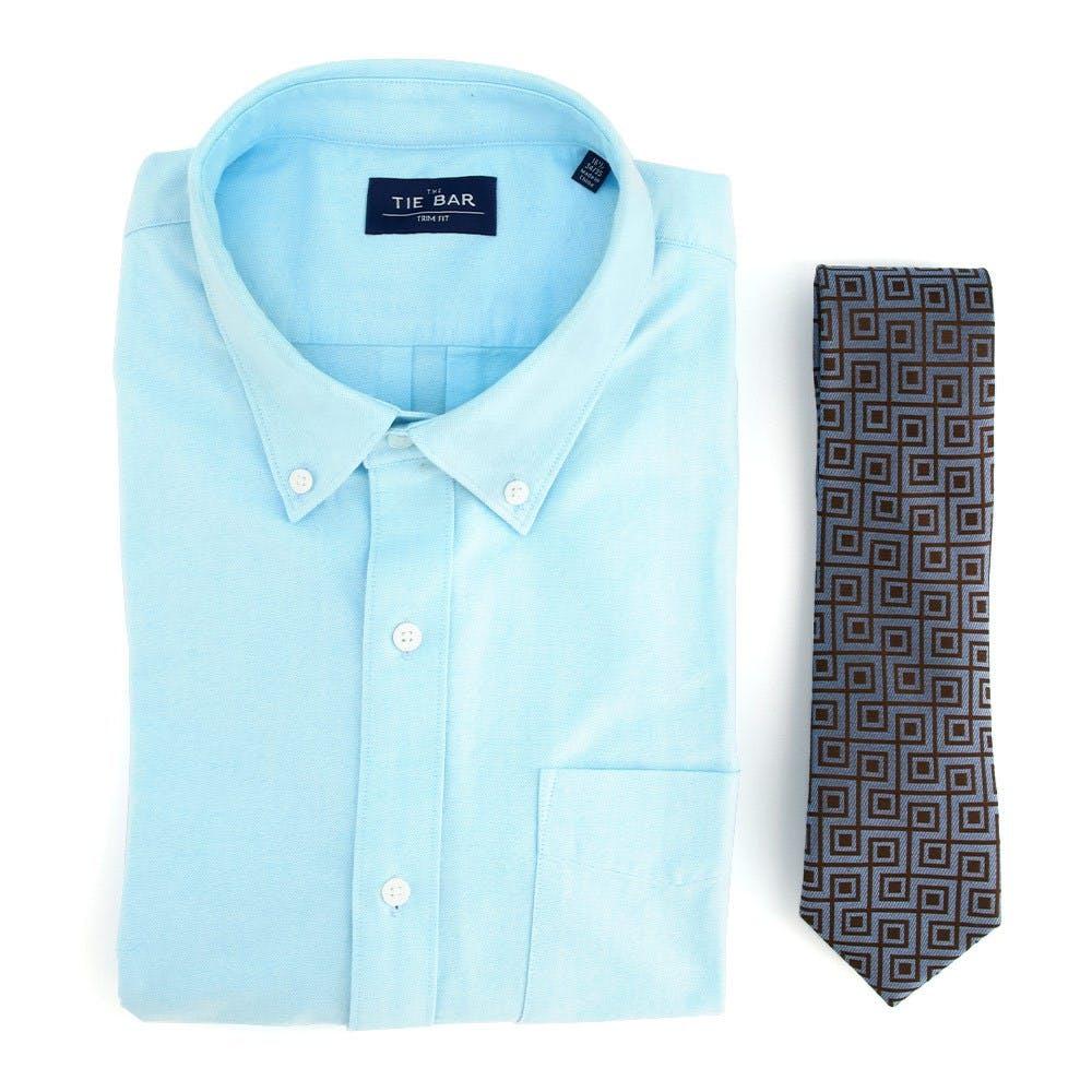 Oxford Shirt & Tie Combo