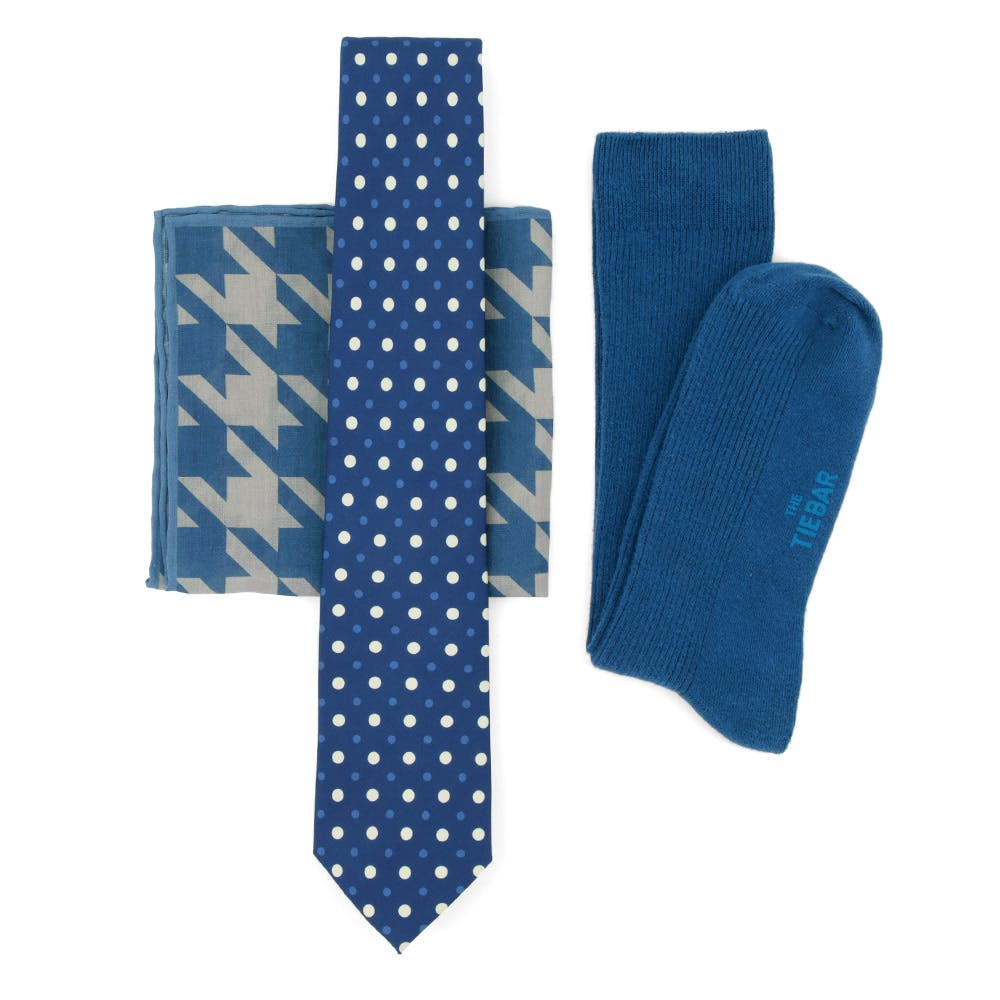 Oversized Houndstooth Blue PSQ