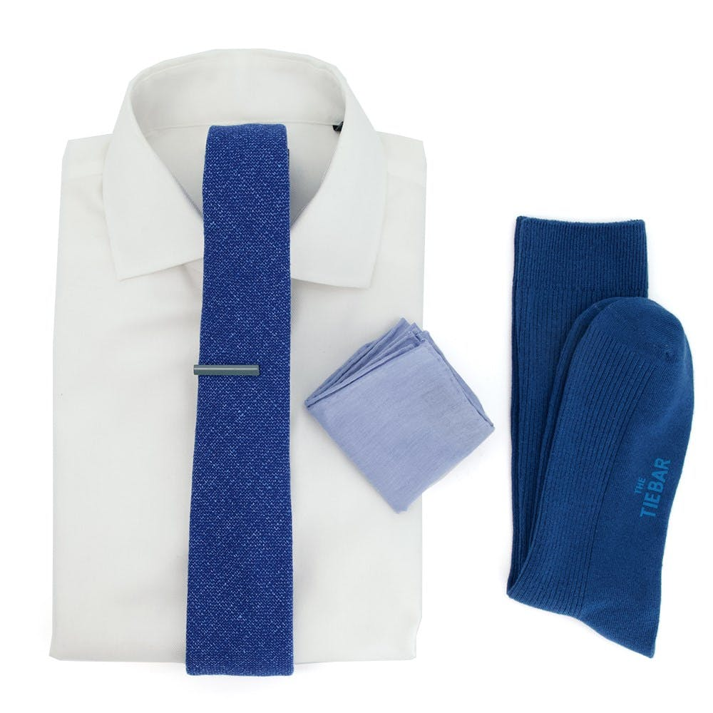 Barberis Solido Classic Blue Wedding Outfit