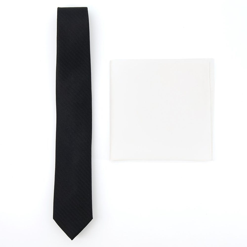 Solid Black Tie Combo for Formal Events