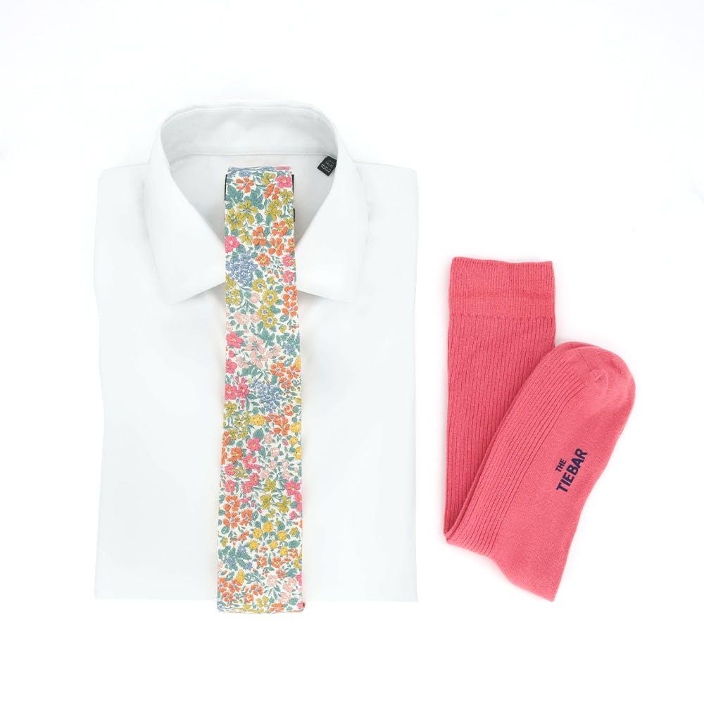 Liberty Joanna Louis Pink Tie and Shirt Combo