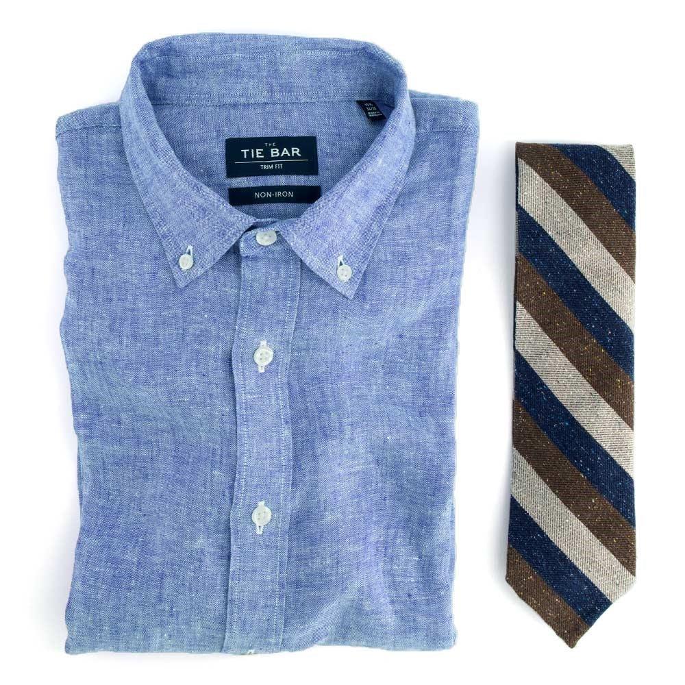 Linen & Unlined Stripe Combo