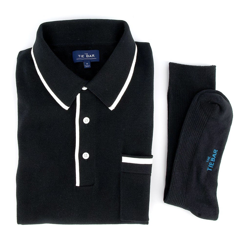 Tipped Sweater Polo Combo
