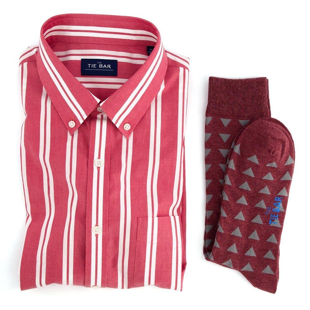 Awning Stripe Short Sleeve Shirt Combo