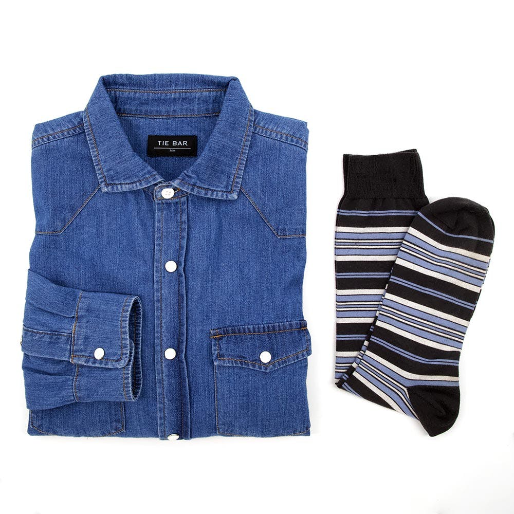 Western Shirt and Variegated Sock Combo