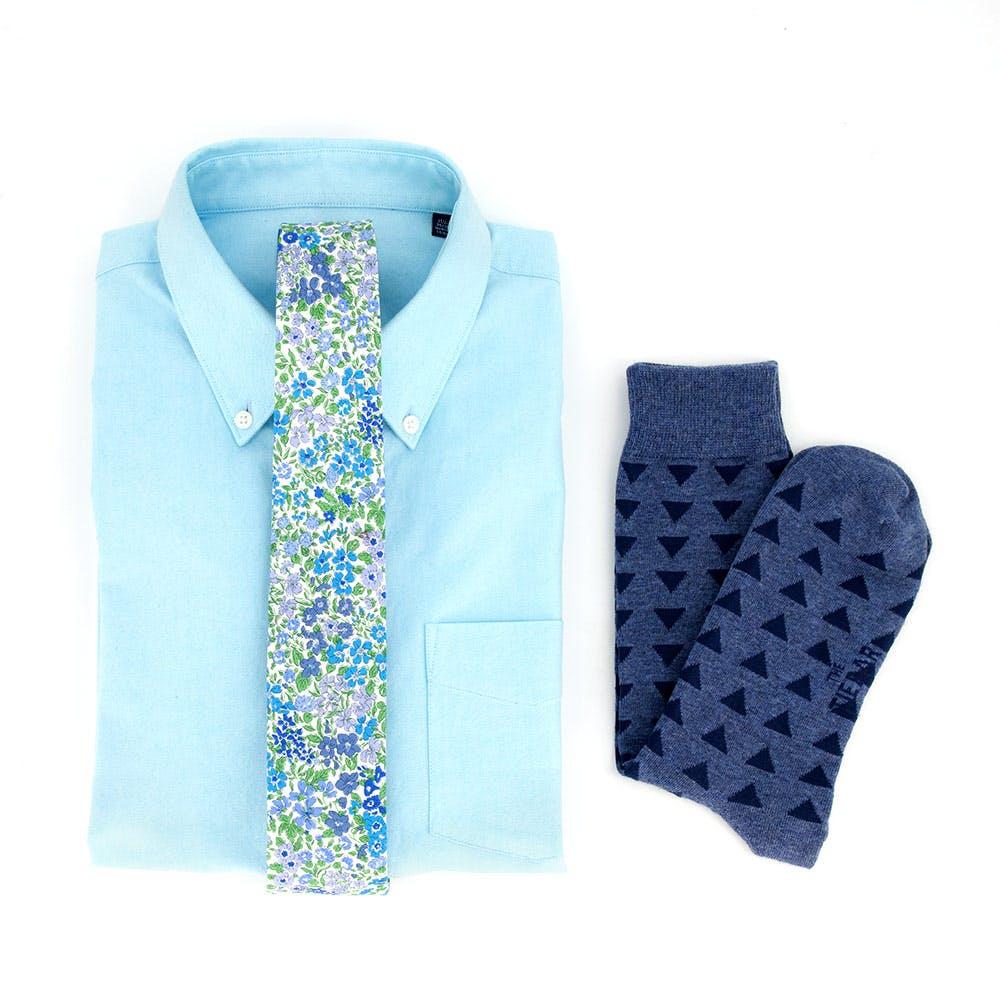 Liberty Floral Aqua Oxford Shirt Combo