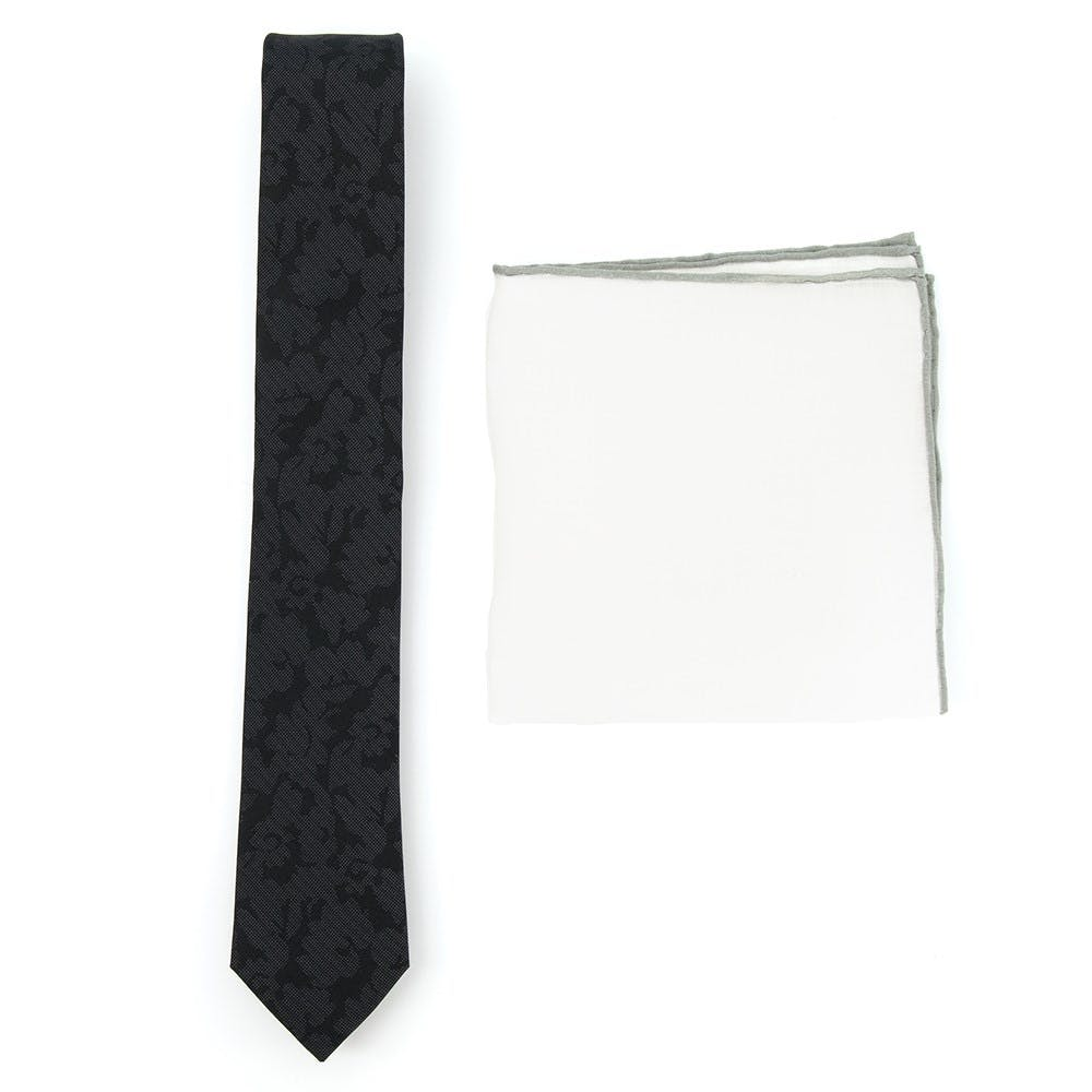 Floral Black Tie Combo for Formal Events