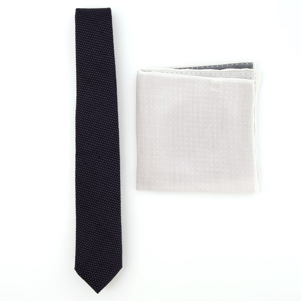 Grenalux Tie Combo To Match Navy Suits