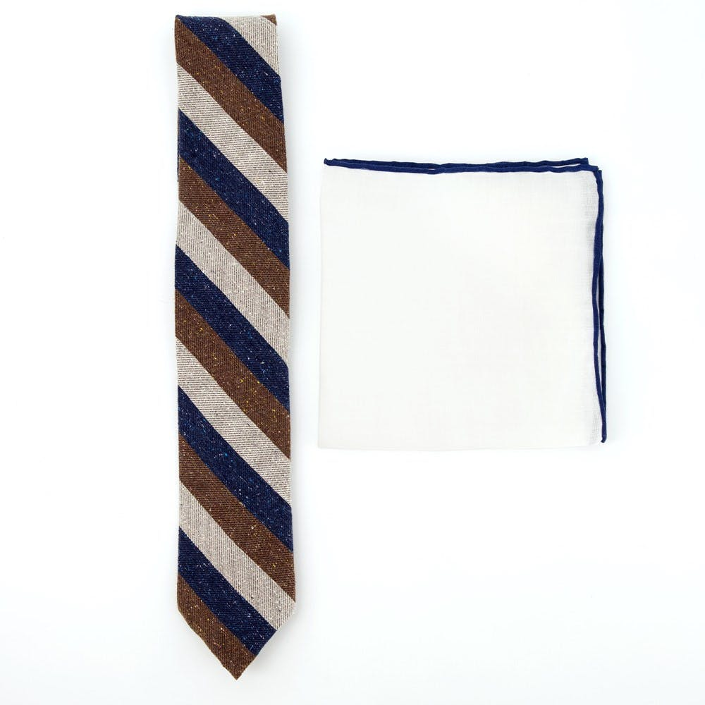 Striped Tie Combo to Match Navy Suits