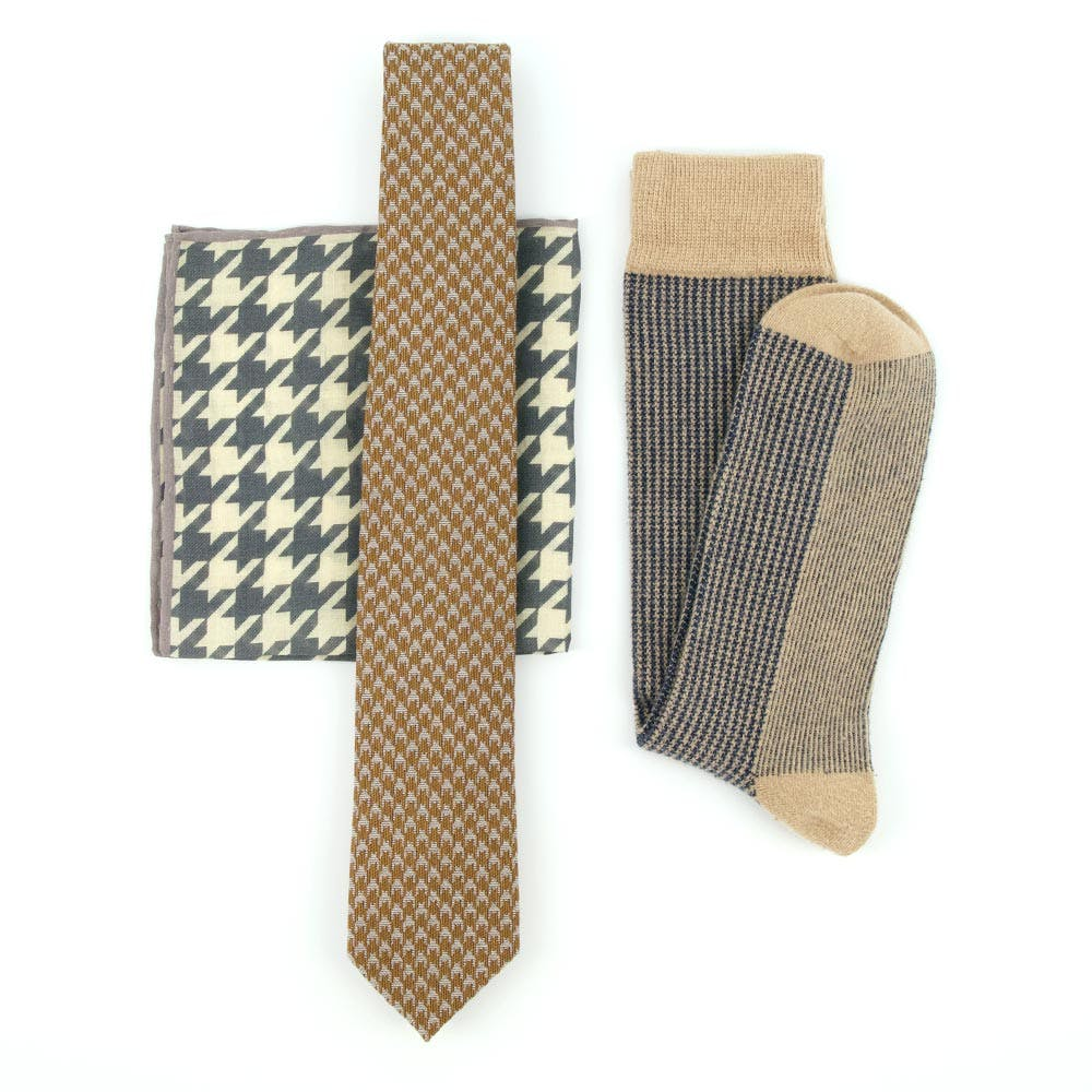 Large Houndstooth Olive Combo