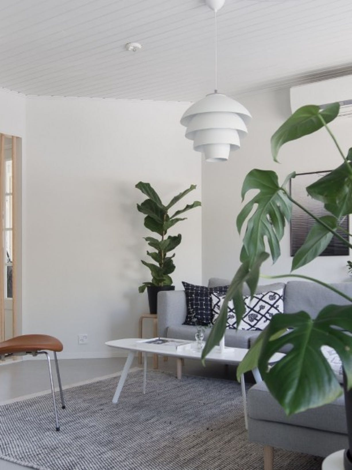 Tikkurila White Paint Living Room Refresh wide after