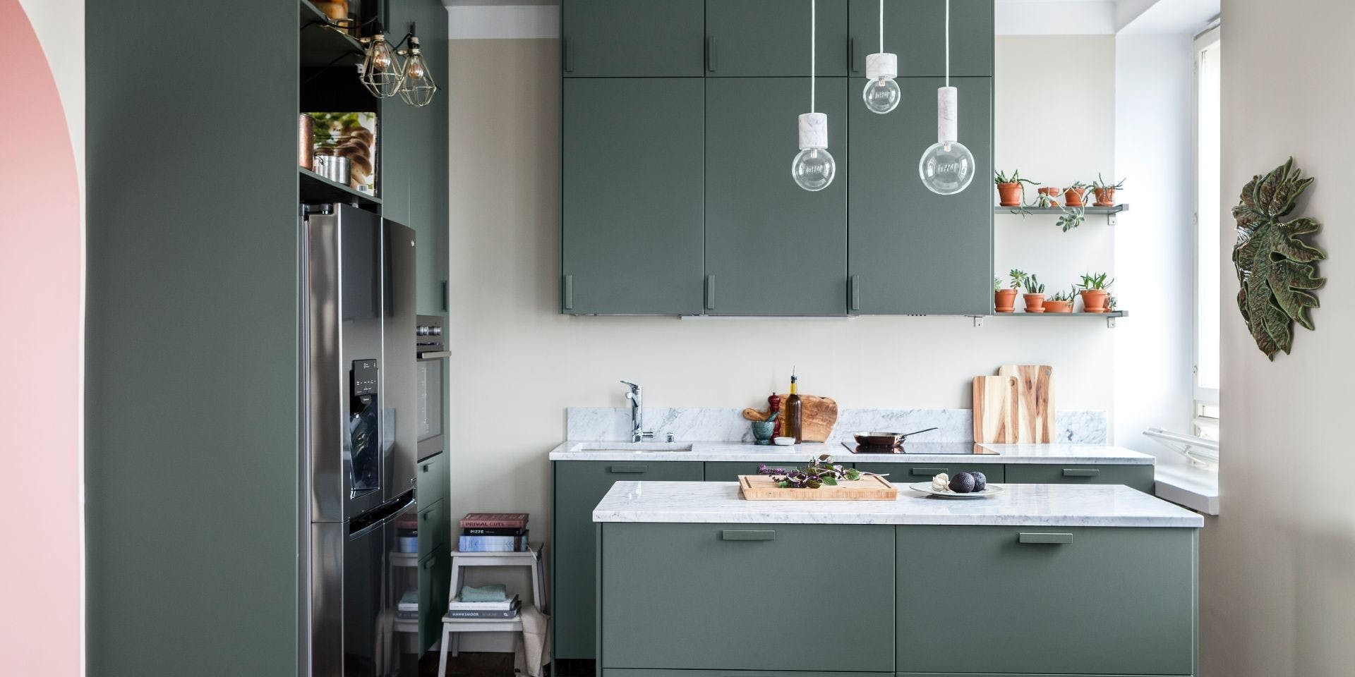 DIY Painted Kitchen Cupboard Refresh - Tikkurila Abyss - Thumbnail image