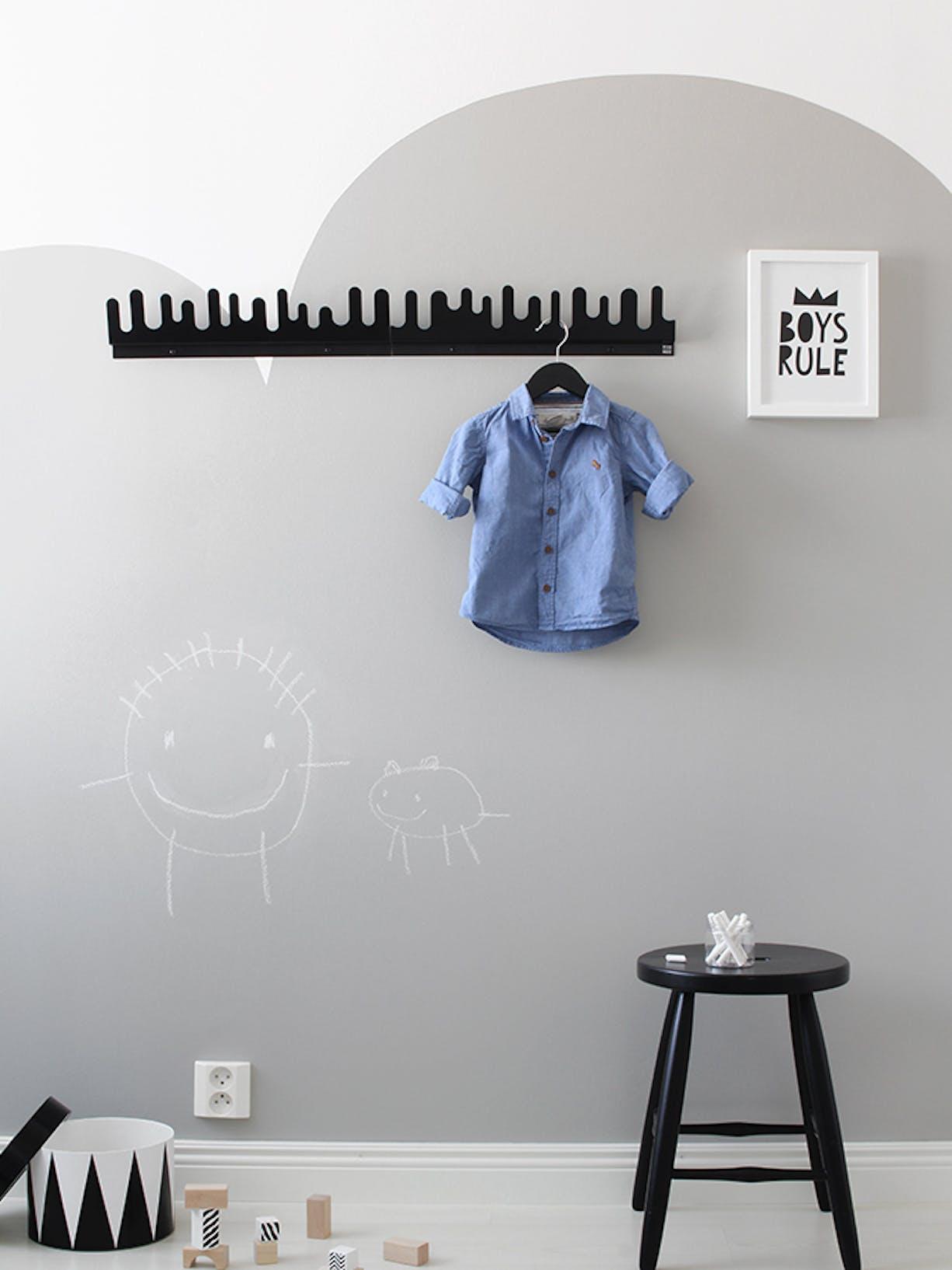 DIY Chalkboard Wall For Your Kids Bedroom or Nursery left Image
