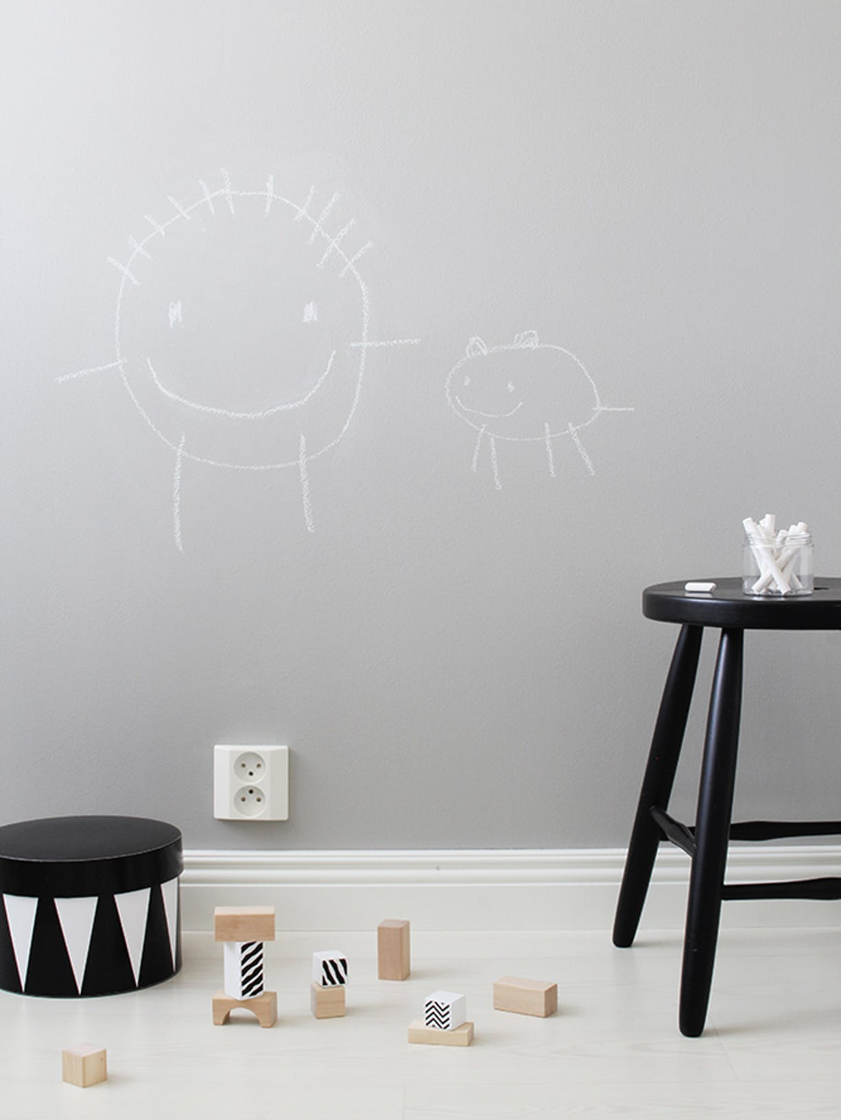 DIY Chalkboard Wall For Your Kids Bedroom or Nursery right Image