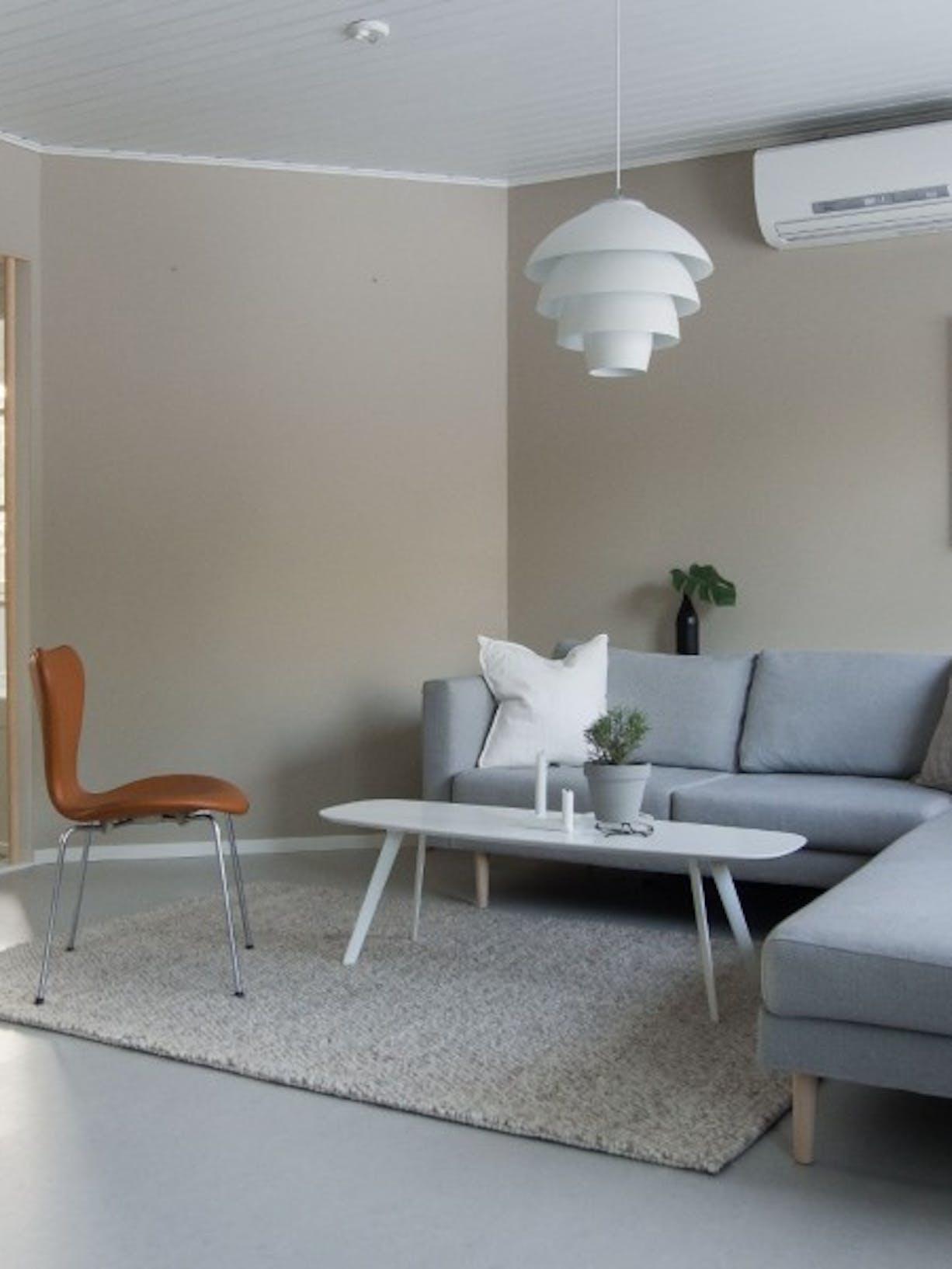Tikkurila White Paint Living Room Refresh wide before