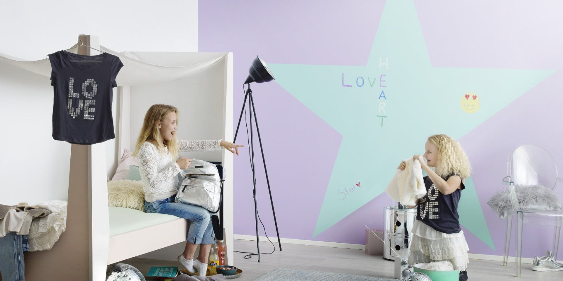 Star Chalkboard Wall Kids Bedroom Hero Image