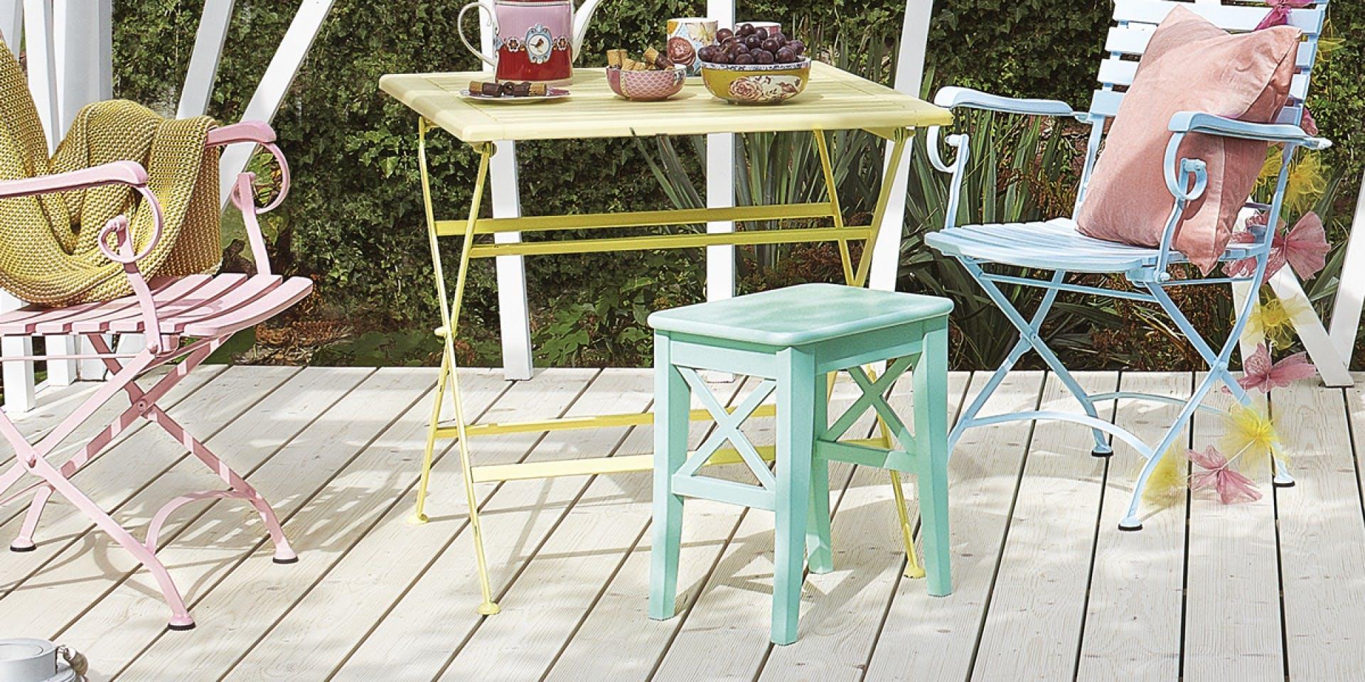 Pastel garden furniture | Hero Image | Tikkurila