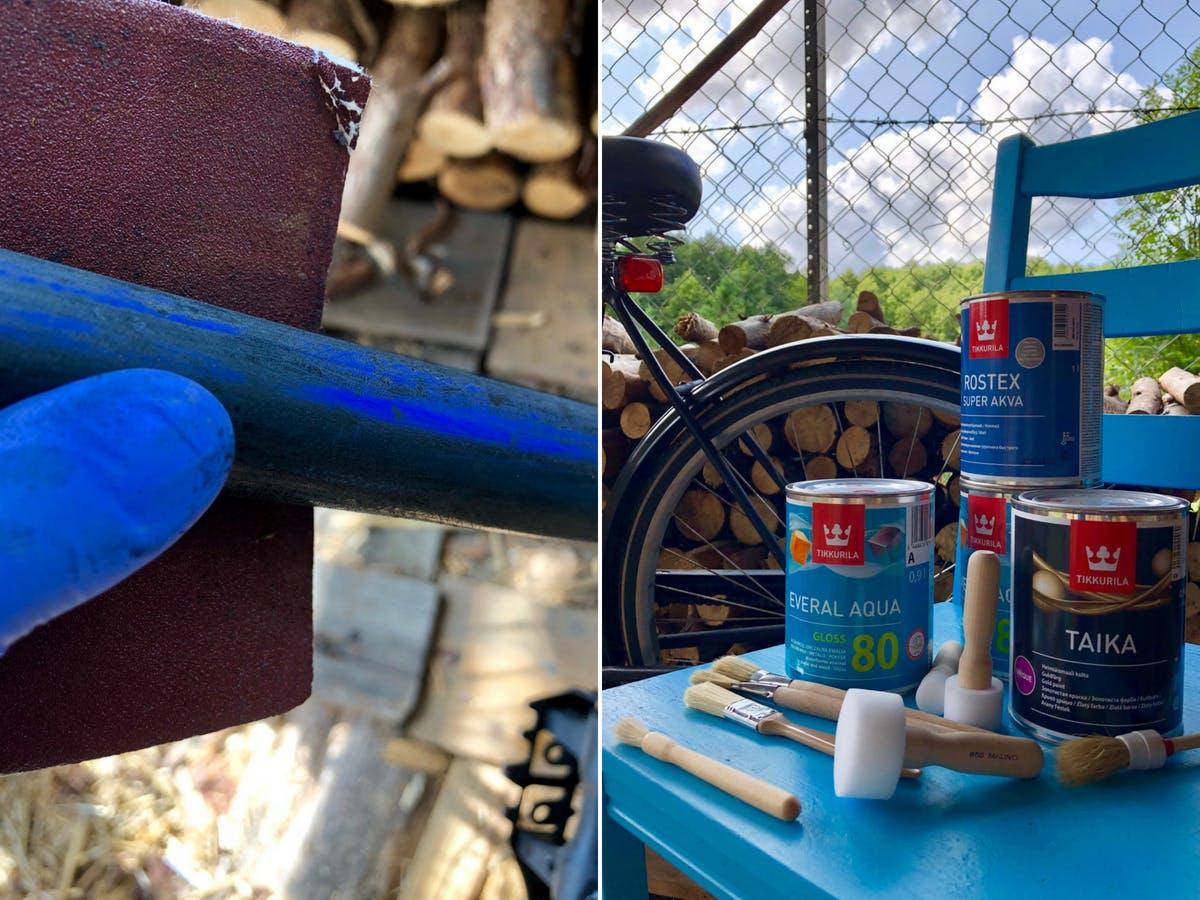 Paint Your Bike | Sanding Image | Tikkurila