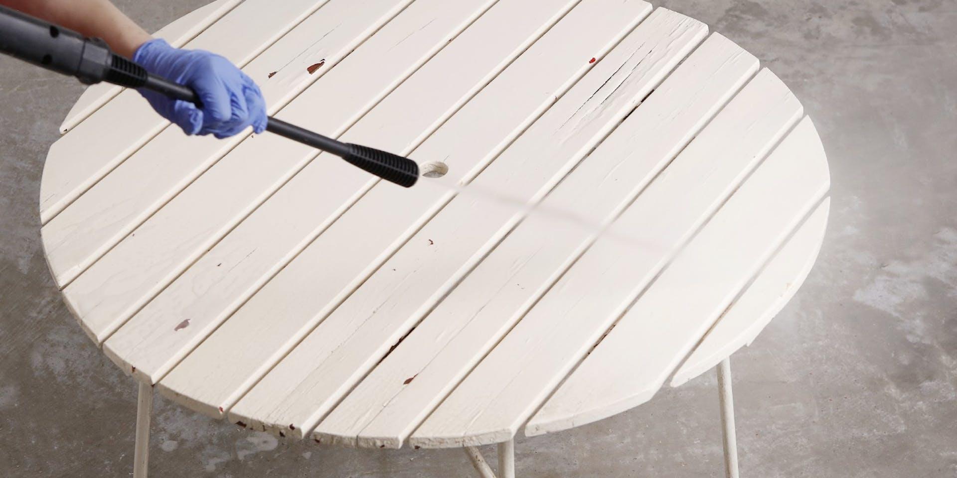 Restore your garden table   Cleaning Image   Tikkurila