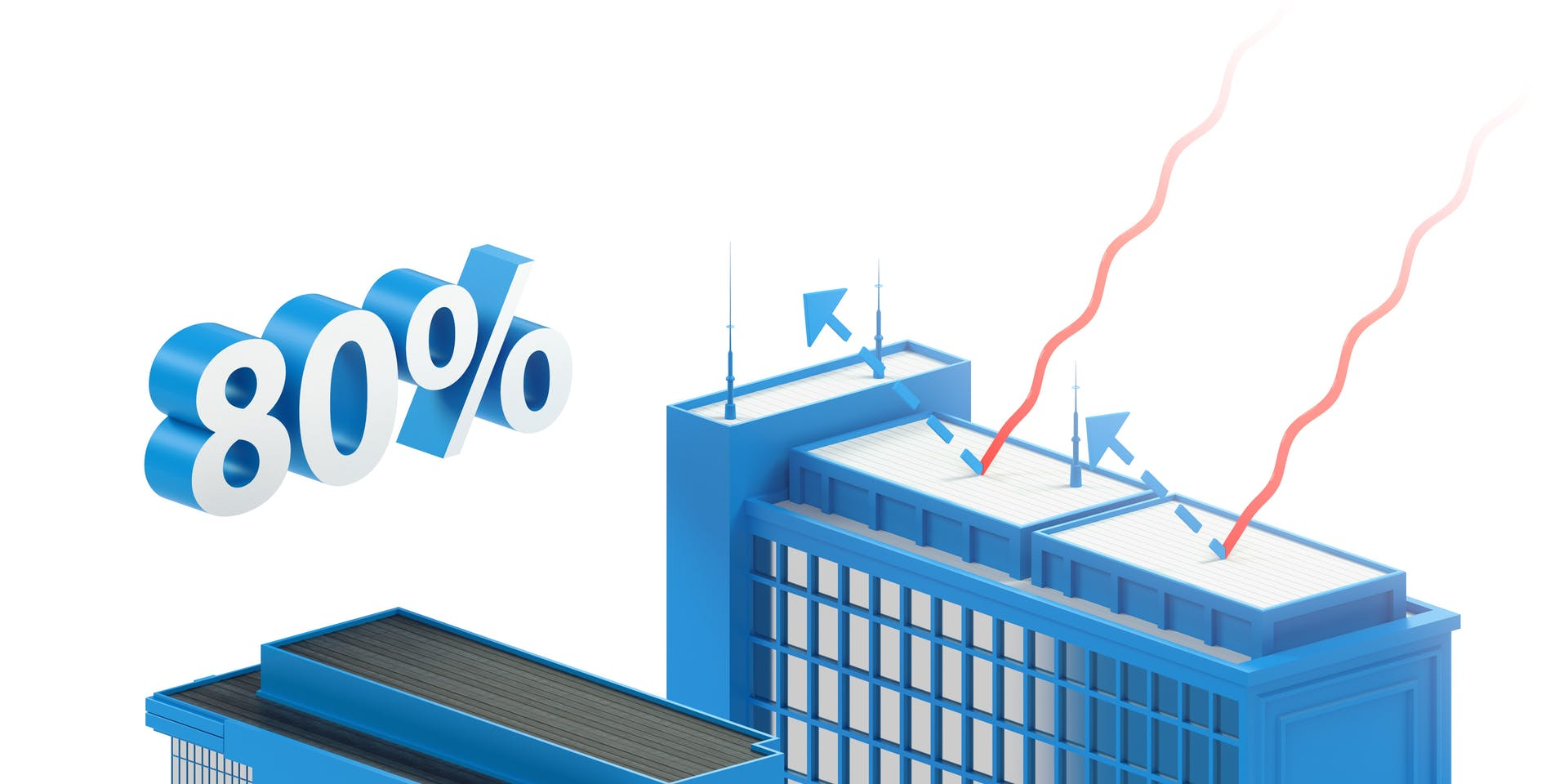 ClimateCooler | Energy-Efficient Roof Treatment Explained Emission Diagram | Tikkurila