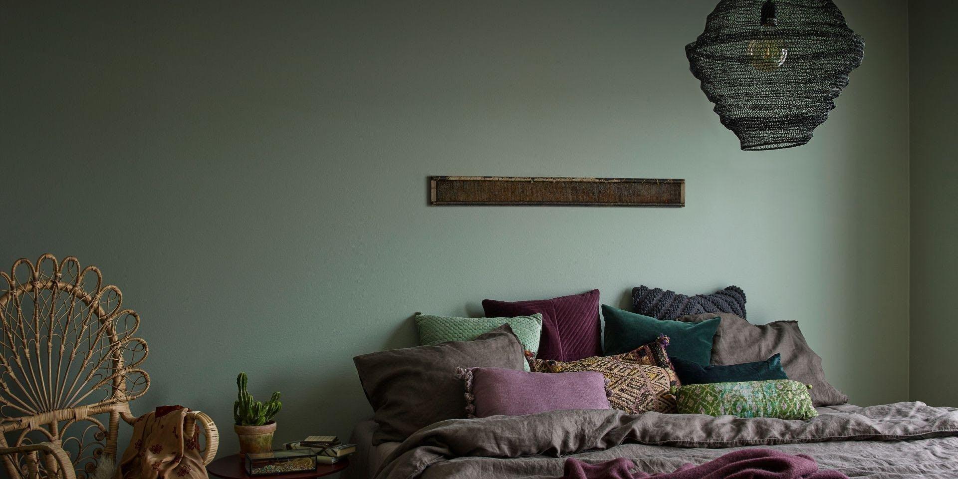 Feel the Colour Collection   Bohemian Bedroom Ficus   Tikkurila