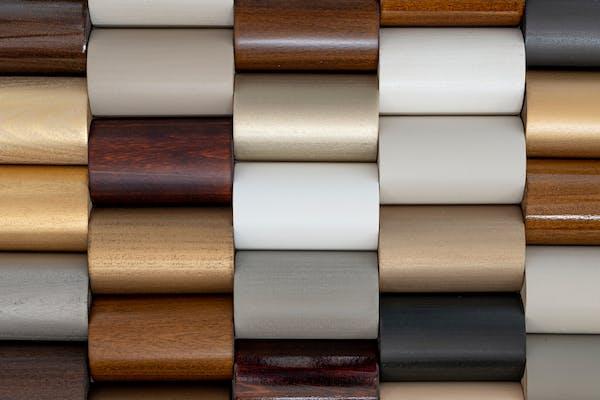 Wood finish swatches