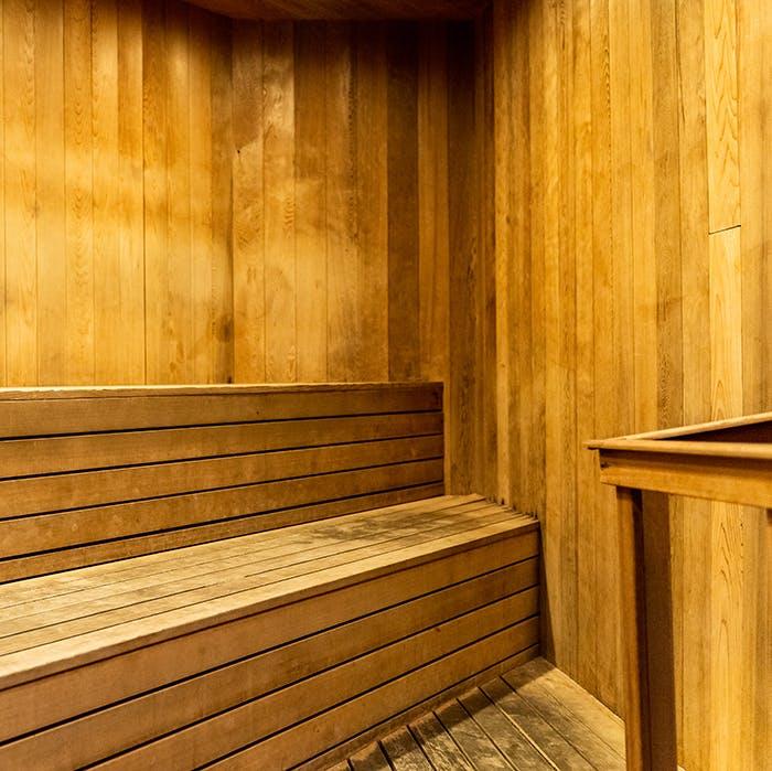 Sauna at TMPL gym