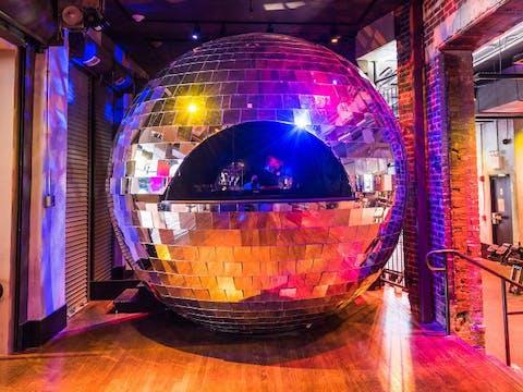 Disco DJ Booth at TMPL Astor Place gym