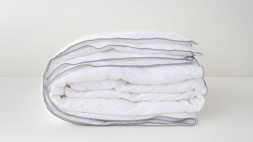 Folded down alternative duvet insert