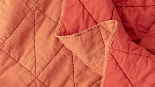 Close up of the quilt stitching