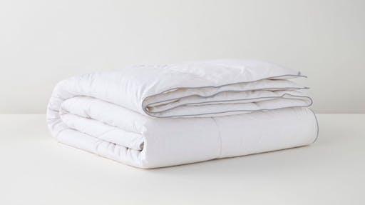 Folded down duvet insert at an angle