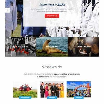 screenshot of Sir Peter Blake Trust