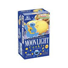 A blue box of Japanese Moonlight cookies.