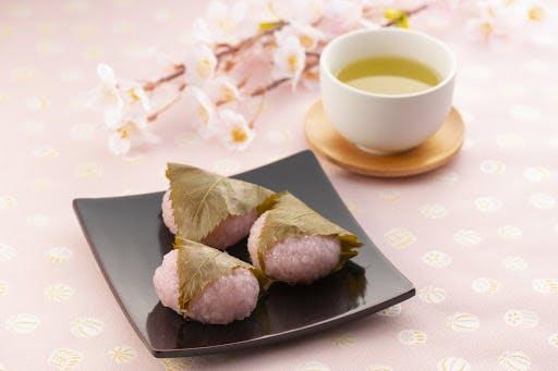 Traditional Japanese sakura mochi