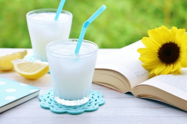 A mixture of ramune and calpis, a refreshing Japanese drink for summer