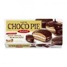 A box of LOTTE choco pies.
