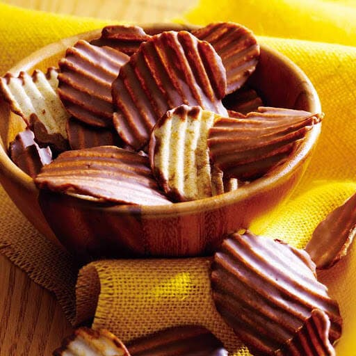 Chocolate covered potato chips are a new craze in the Japanese snack scene!