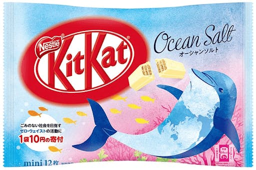 Ocean Salt flavored Japanese Kit Kats