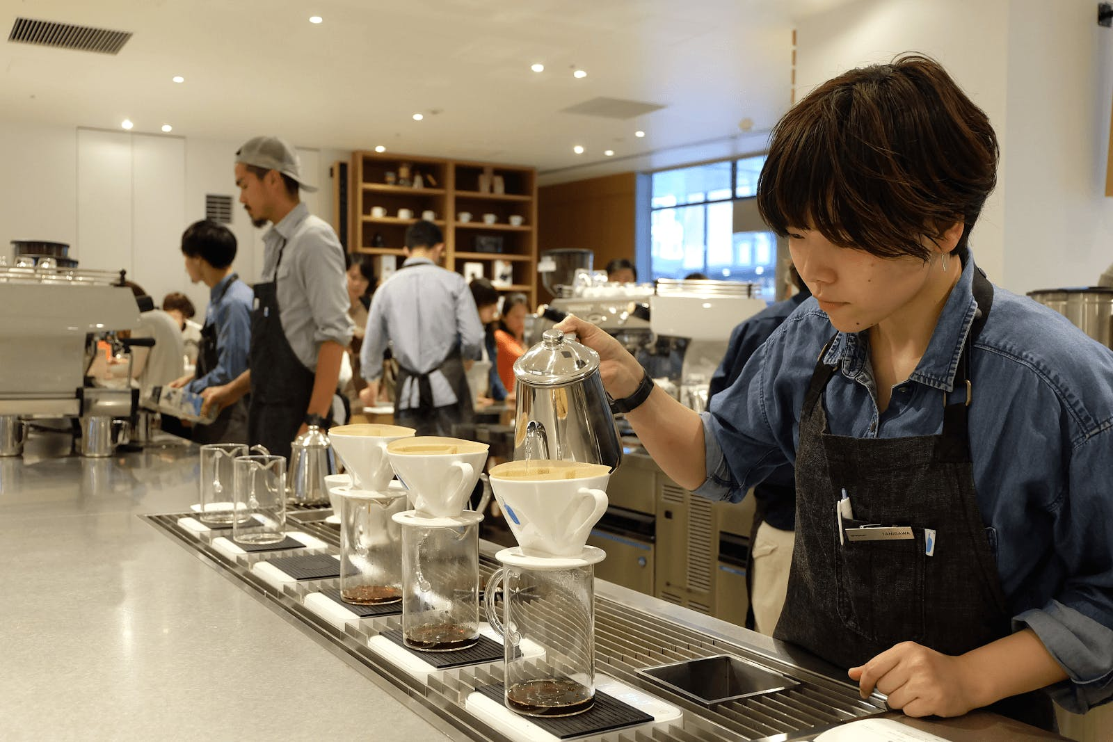 Japanese pour over coffee requires skilled and careful precision to acheieve a robust flavor