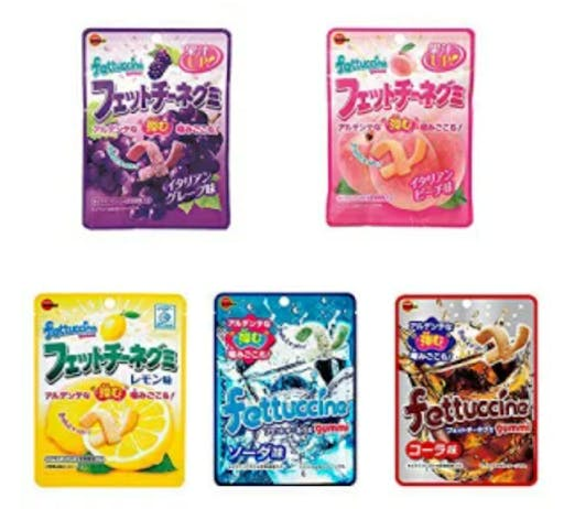 Various flavors of Japanese gummy candy