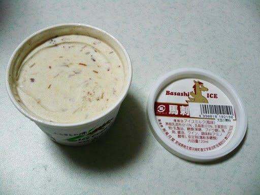 Japanese horse meat ice cream