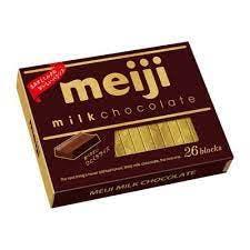 A box of meiji Japanese chocolate.