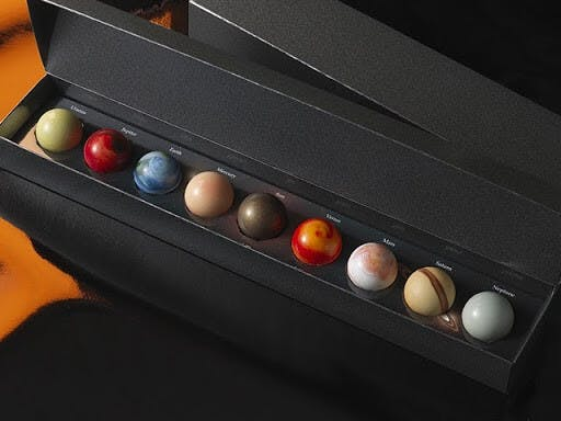 Japanese chocolate often comes in a variety of beautiful shapes and colors!