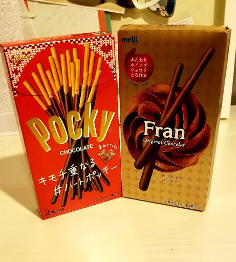 Pocky and Fran Japanese biscuit sticks