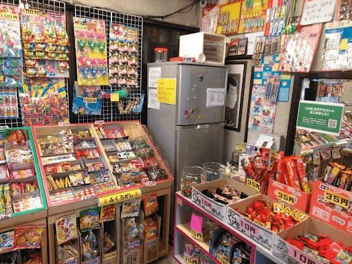 A dagahi-ya, or japanese candy shop