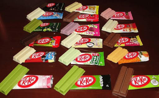 Japanese Kit Kats are available in a plethora of unique flavors