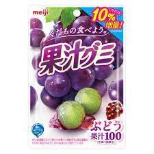 A bag of grape flavored Japanese Fruit Juice Gummies.