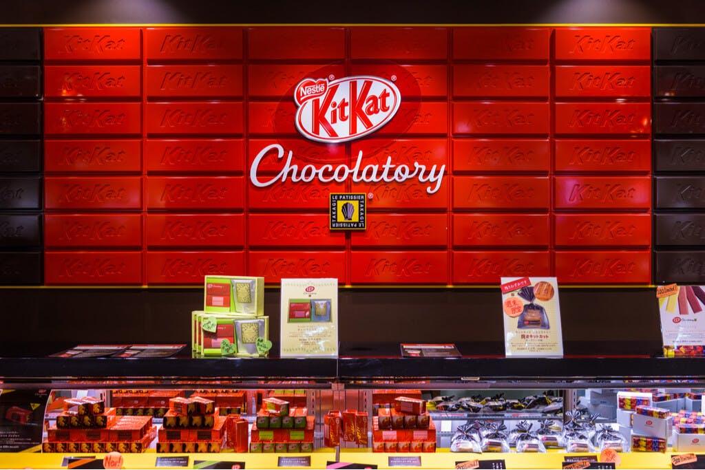 the Kit Kat chocolatory in Ginza